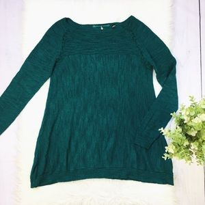 Anthro Knitted & Knotted Green Long Sleeve Top 500